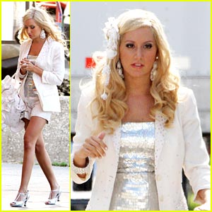 Ashley Tisdale is Wonderful in White