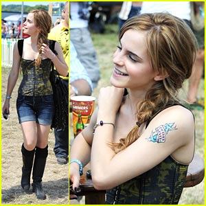 Emma Watson is Glastonbury Gorgeous