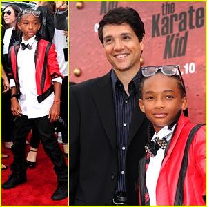 Jaden Smith Meets The Original Karate Kid