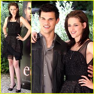 Kristen Stewart & Taylor Lautner Take Over Rome