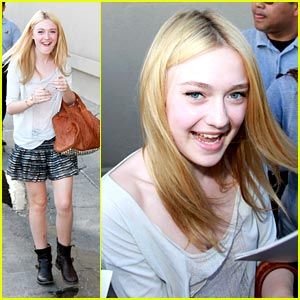 Dakota Fanning is a Cement Jeep Maker