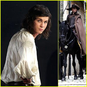 Logan Lerman as D'Artagnan -- FIRST LOOK!