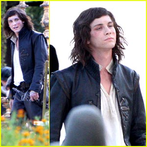 Logan Lerman: The Three Musketeers -- Set Pics!