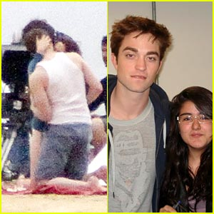 Robert Pattinson & Kristen Stewart: Kiss on the Beach!