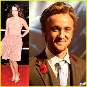 Tom Felton & Evanna Lynch: Harry Potter Premiere Pair
