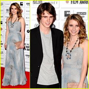 Emma Roberts & Freddie Highmore: Moet Mates