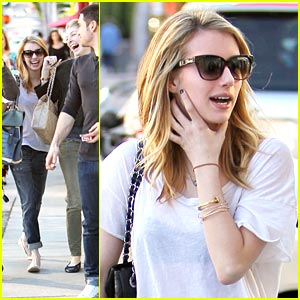 Emma Roberts Gets Organized