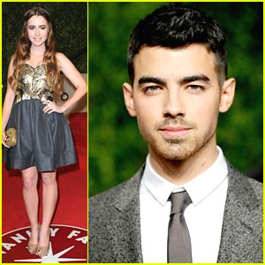 Joe Jonas & Lily Collins: Vanity Fair Oscar Party Pair