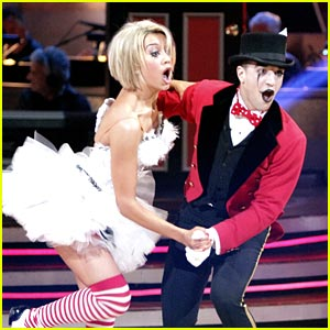 Chelsea Kane and mark ballas jive