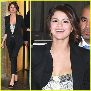 Selena Gomez Suits Up for The Seven
