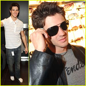 Steven R. McQueen Shops Armani Exchange