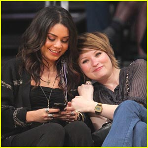 Vanessa Hudgens & Emily Browning: Lakers Ladies