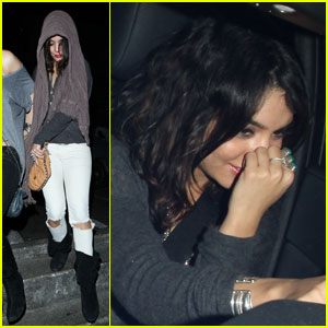 Vanessa Hudgens: Clubbing &#038; Crave Cafe!
