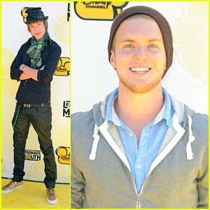 Chris Brochu & Nick Roux: Mudslide Crush Crashes Lemonade Mouth Premiere!