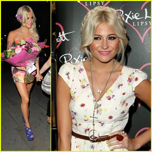 Pixie Lott Launches New 'Lipsy' Line in London