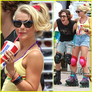 Diego Boneta &#038; Julianne Hough: 'Rock Of Age's Rollerbladers!