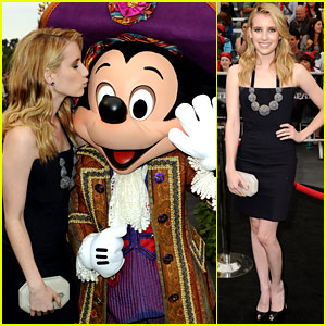 Emma Roberts: 'Pirates' Premiere with Mickey!