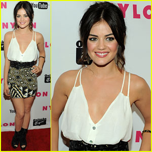 Lucy Hale: Nylon Magazine Party Arrival!
