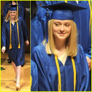 Dakota Fanning Graduates!