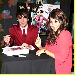 Daniella Monet & Drake Bell Make Planet Hollywood See Red