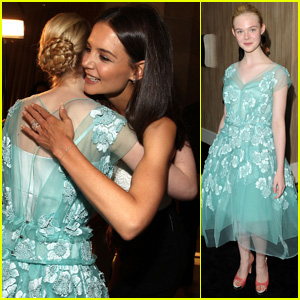 Elle Fanning Gets Hugs From Katie Holmes