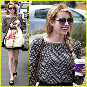 Emma Roberts: Coffee Bean Beauty