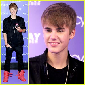 Justin Bieber Launches 'Someday' at Macy's