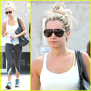 Ashley Tisdale In Workout White