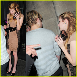 Emma Roberts & Chord Overstreet: 'Harry Potter' After Party Pair