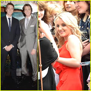 Evanna Lynch &#038; Phelps Twins: 'Harry Potter' Hits Dublin!