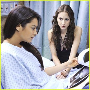Troian Bellisario & Shay Mitchell: Not So 'Pretty Little' Hospital Visit