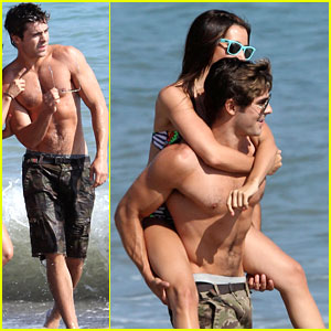 Zac Efron: Birthday Piggyback Ride for Ashley Tisdale!