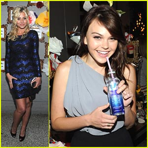 Aimee Teegarden & Aly Michalka: Alice + Olivia Party Pair!