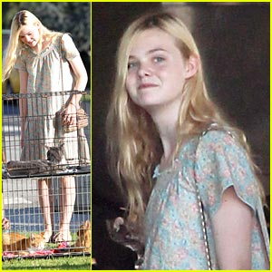 Elle Fanning is a Cat Lady