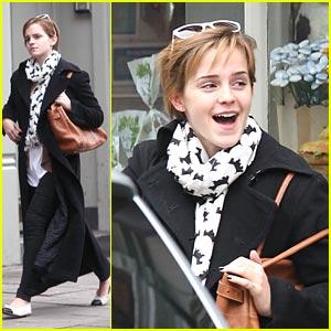 Emma Watson Bundles Up for Breakfast
