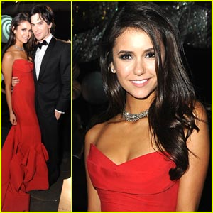 Nina Dobrev: Emmys Governor's Ball with Ian Somerhalder