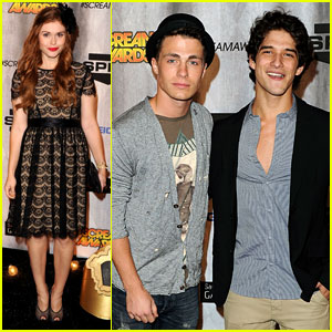 Colton Hayes & Tyler Posey: Scream Awards 2011!