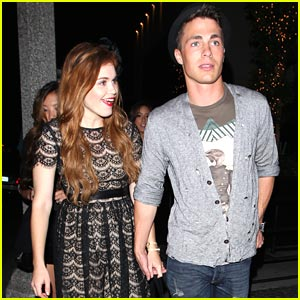 Colton Haynes & Holland Roden: Holding Hands!