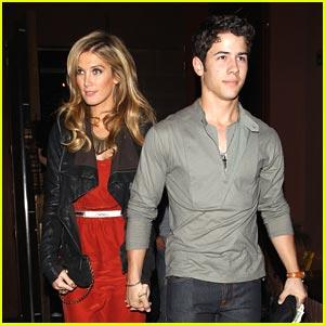 Nick Jonas & Delta Goodrem: Dinner Date Night