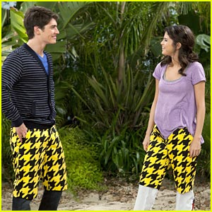 Selena Gomez &#038; Gregg Sulkin: Checkered Pants Pair