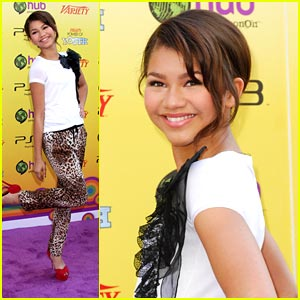 Zendaya Stuffs Backpacks For School