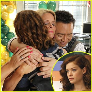 Jane Levy Gets Hugs from Cheryl Hines