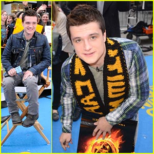 Josh Hutcherson Premieres 'The Hunger Games' Trailer