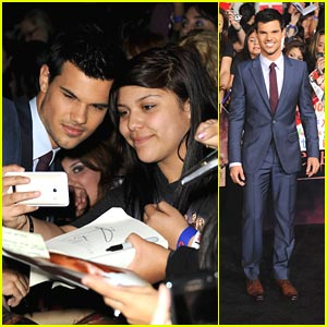Taylor Lautner: 'Breaking Dawn' Premiere!