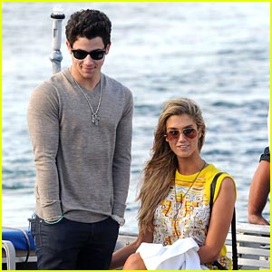 Nick Jonas & Delta Goodrem Sail Around Sydney