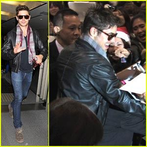 Zac Efron: Tokyo Arrival!