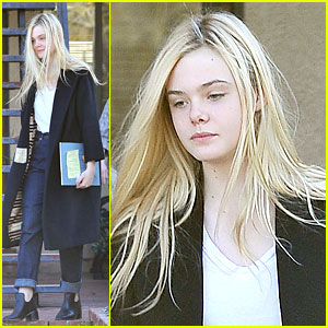 Elle Fanning: Science Study Session