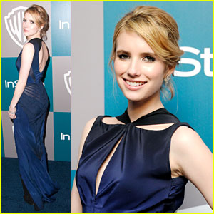 Emma Roberts: InStyle Golden Globes Party