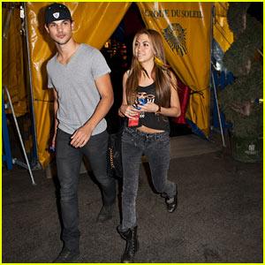Taylor Lautner: Cirque Du Soleil with Sara Hicks!