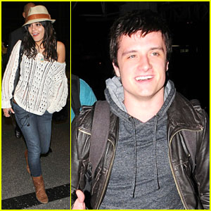 Vanessa Hudgens & Josh Hutcherson 'Journey' Out of LAX
